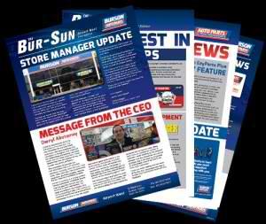 DBC2 Creates Burson Auto Parts' New Newsletter, The Bur-Sun
